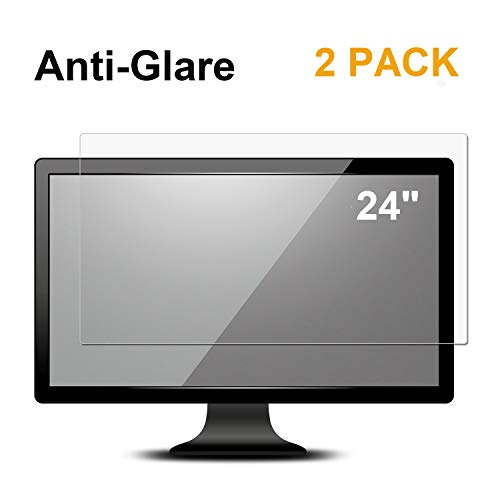 [2 PACK] 24 inch Anti Glare(Matte) Screen Protector Compatible 24  Widescreen Desktop with 16:9 Aspect Ratio Dell / Asus / Acer / ViewSonic / amsung / Aoc / HP Monitor