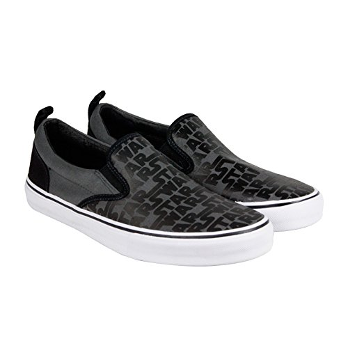 Skechers Sport Men's Star Wars Graphic Print Slip-On Sneaker, Charcoal/Black, 10.5 M US