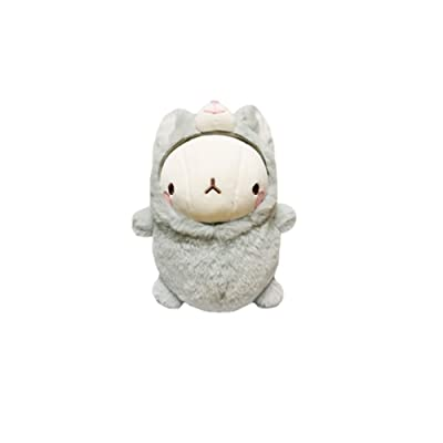 """Molang Rabbit 9.8"""" Plush Doll Toy Cushion Cute Figure Home Room Decor (Mouzzi-Grey): Office Products"""