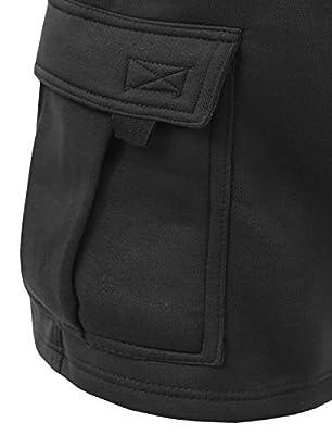 NE PEOPLE Mens Light Comfy Elastic Drawstring Fleece Cargo Sweat Shorts