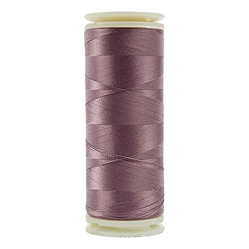 (WonderFil, Specialty Threads, InvisaFil, 2-Ply Cottonized Soft Polyester, Silk-Like Thread for Fine Sewing, 100wt - Dusty Rose, 400m)