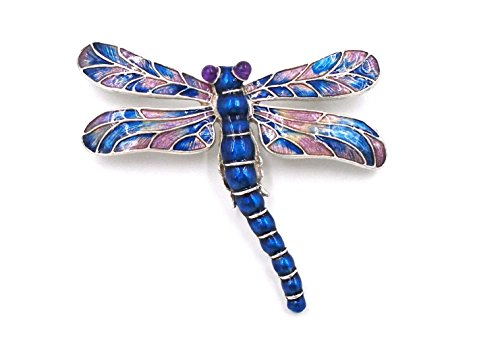 ''Art Nouveau Dragonfly'' Hand-Enameled Pin/Brooch by Heritage Museum Jewelry Replicas… by Hertiage Museum Replicas