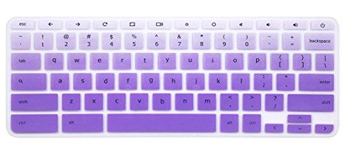 Keyboard Cover Skin for Acer Chromebook R11 CB3-131 CB5-132T, Acer Premium R11,Acer Chromebook R13 CB5-312, Acer Chromebook 14 CB3-431 CP5-471,Acer Chromebook 15 CB3-531/532 CB5-571 C910(Ombre Purple)