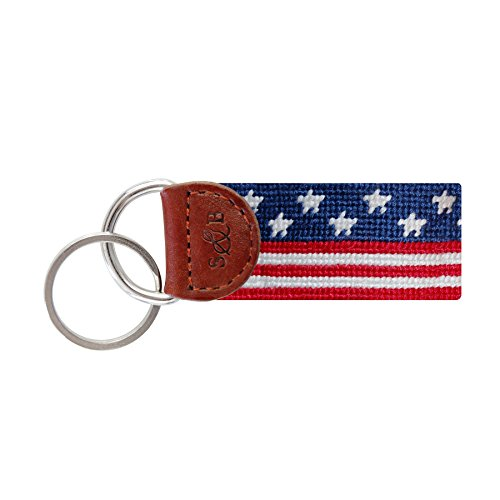 Smathers & Branson Men's Needlepoint Key Fob Old Glory/Red, White, Blue by Smathers & Branson