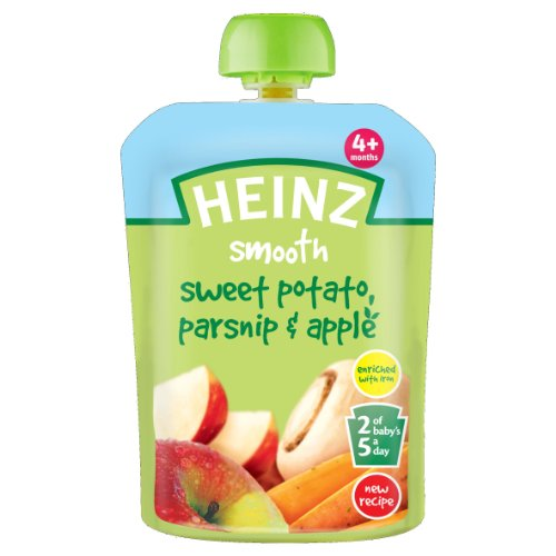 Heinz Sweet Potato Parsnip and Apple Savoury Pouch 4 Months Plus 100 g (Pack of - Heinz Potatoes Sweet