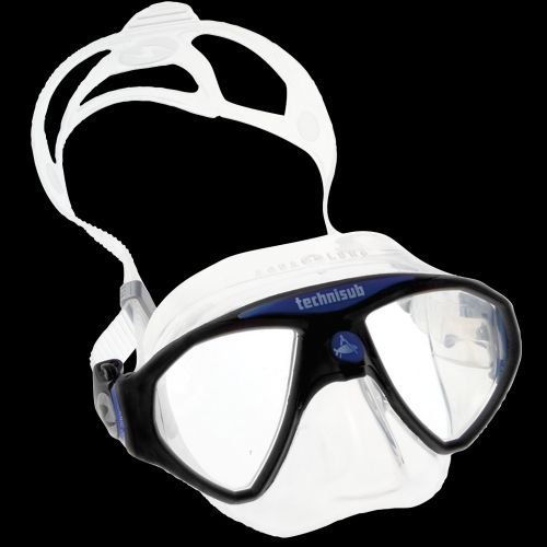 Image of Aqua Lung MicroMask Two Window Mask - Clear/Blue