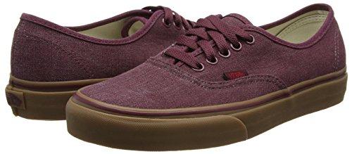 washed Rouge Sneakers gum Adulte Mixte Royale port Basses Vans Canvas Authentic qXCYpp
