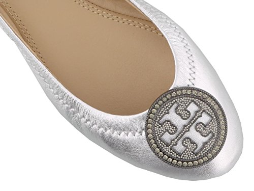 Tory Burch Ladies 44388040 Ballerine In Pelle Argento