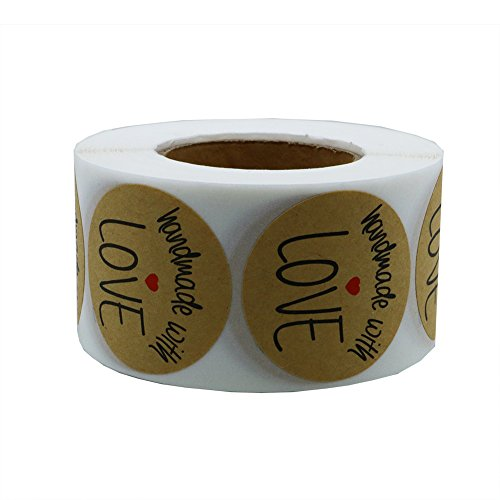 Hybsk 1 5 Quot Inch Round Natural Kraft Handmade With Love