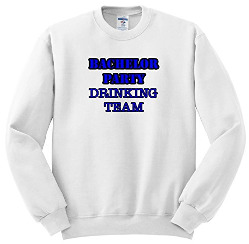 Stag,Bachelor Party - Bachelor Party Drinking Team Blue - Sweatshirts - Adult Sweatshirt 4XL (SS_261064_7) ()
