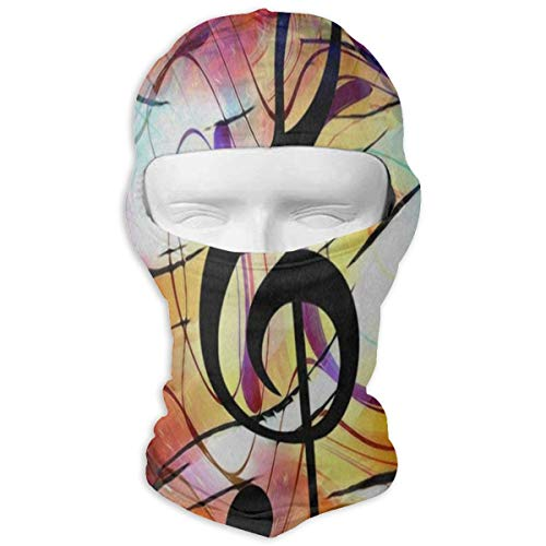 Balaclava Music Note Clef in Space Star Full Face Masks Ski Sports Cap Motorcycle Neck Hood
