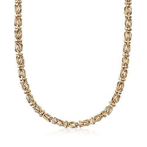Ross-Simons 14kt Yellow Gold Byzantine Necklace 14kt Gold Byzantine Necklace