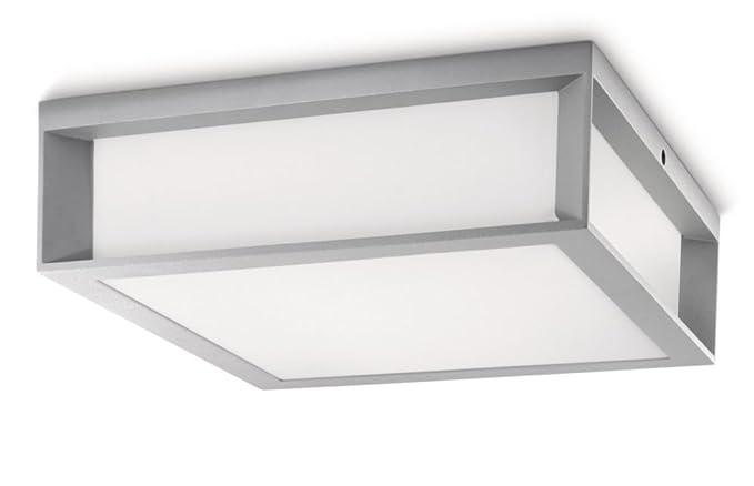 Plafoniere Tonde Per Esterno : Philips skies lampada da parete soffitto per esterno rettangolare