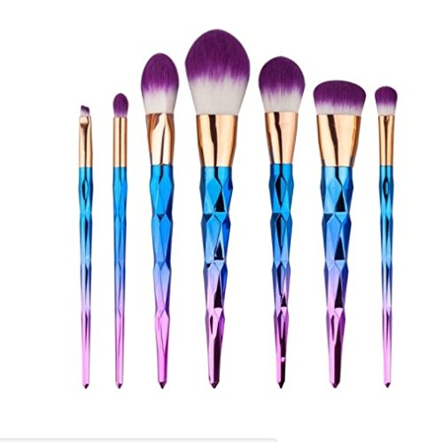 [New Makeup 2017 Pro Makeup Brushes Contour Powder Eyeshadow Lip Blush Foundation Powder Kabuki Brushes Cosmetics Makeup] (Saw Makeup And Costume)