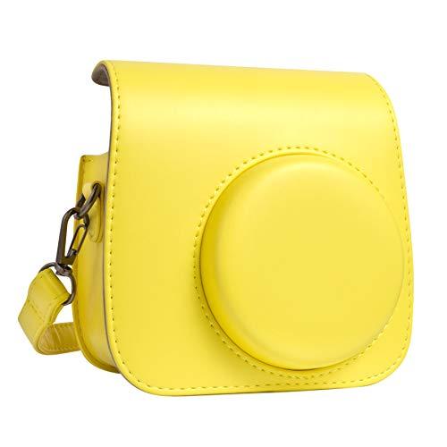 QUEEN3C Mini 9 Camera Case Bag for Fujifilm Instax Mini 9 Mini 8 Mini 8+ Instant Camera. (Yellow)