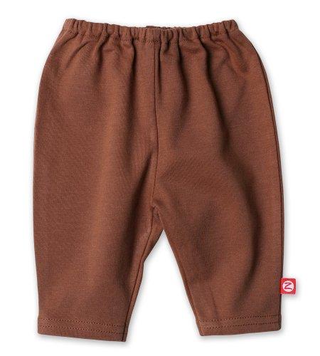 Periwinkle Baby Legging (Zutano Primary Solid Legging, Chocolate, 0-3 Months)
