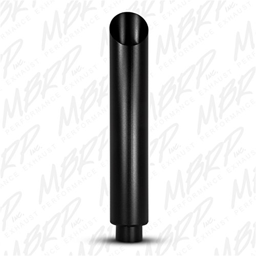 """MBRP B1610BLK 6"""" Angle Cut 36"""" Black Finish Aluminized Exhaust Stack"""