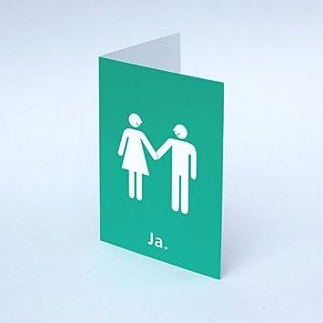 10 Hochzeitskarten Anke Thomas Ja Grune Klappkarten Din A6 Mit