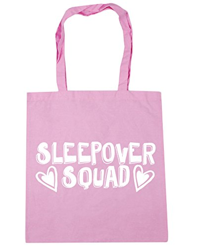 squad 42cm litres Pink Beach x38cm Sleepover Bag HippoWarehouse Shopping Gym 10 Classic Tote 50vW7c