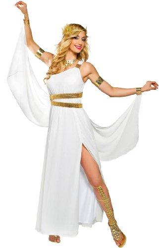 [Goddess Venus Costume - Large - Dress Size 12-14] (Athena Adult Costumes)