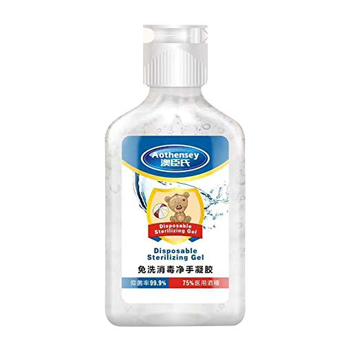 Ingzy Instant Hand Sanitizer,Anti-Bacterial Hand Gel,Hand Sanitizer Gel Alcohol,Non-Rinse Disinfection Hand Sanitizer 50ml,Sterilization Antibacterial Hand Wash