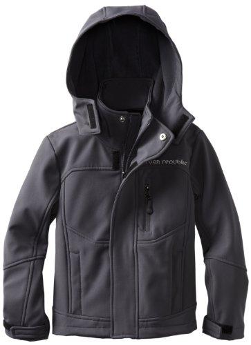Urban Republic Little Boys' Little Boy 2175KC Soft Shell Jacket, Charcoal, 4