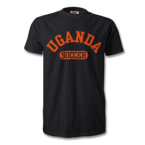 Uganda camiseta de fútbol negro/naranja
