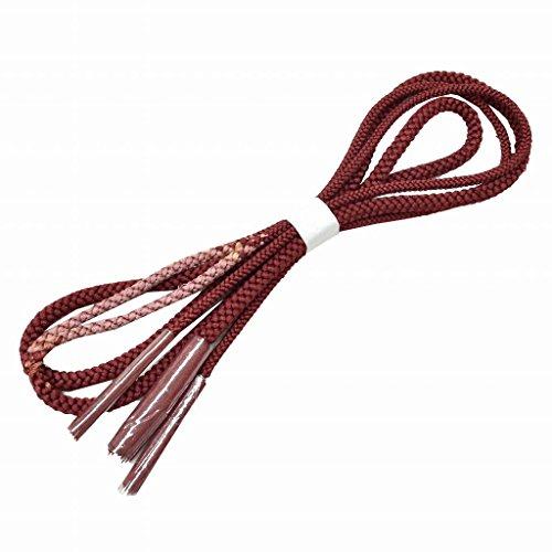 成功した満足させるインサートリサイクル 帯締め おびじめ 中古 正絹 カジュアル 丸組 赤 kka8209c【中古】【着物ひととき】