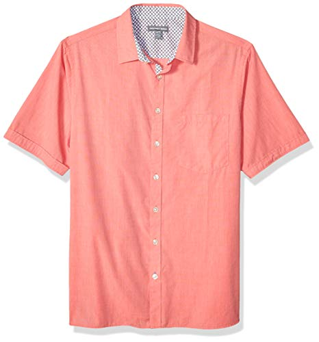 - Geoffrey Beene Men's Big and Tall Easy Care Short Sleeve Button Down Shirt, Spiced Coral, 2X-Large Big