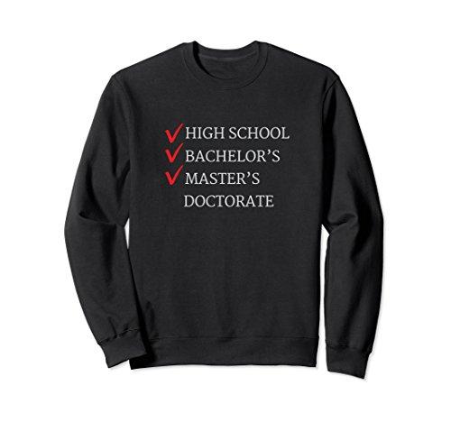 Unisex Master's Degree Graduation Sweatshirt Graduate Gift 2XL Black (Master Adult Sweatshirt)