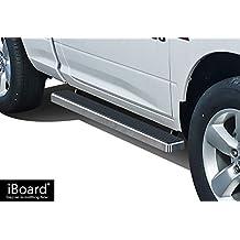 "APS IBDY5821 Silver 4"" Running Board (iBoard Third Generation, For Selected Dodge Ram 1500/2500/3500 Regular Cab, Aluminum)"