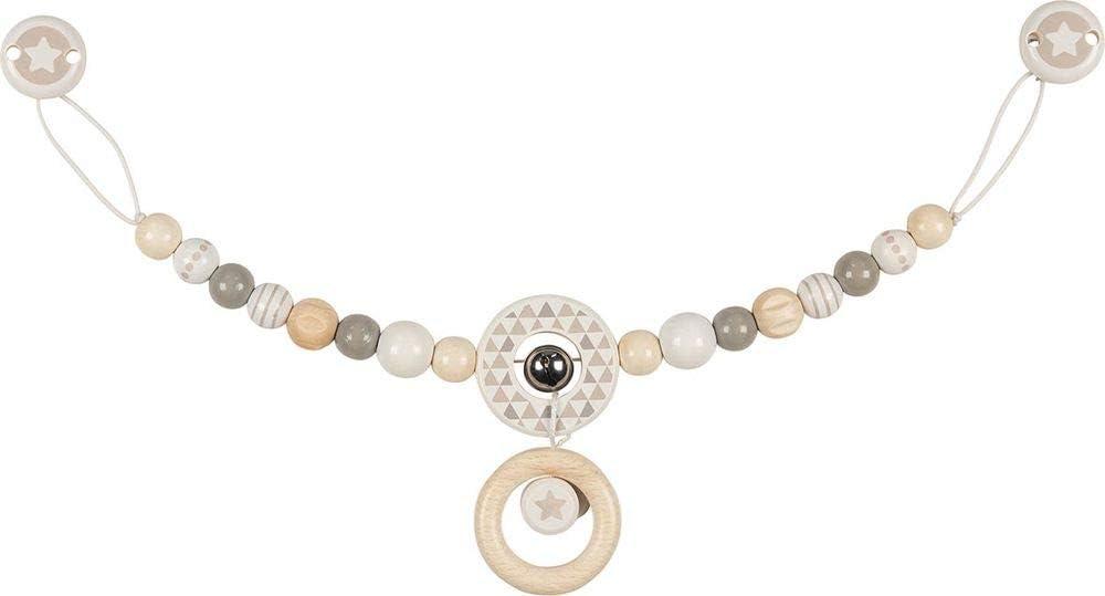 Heimess 765690 Pram Chain Star Grey with Clips
