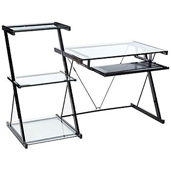 Z-Line Nero Desk and Bookcase