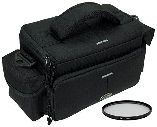 Foto Kamera Tasche ACTION L + UV Filter 55mm für Sony Alpha 7 R II B mit Objektiv SEL 28-70mm KB