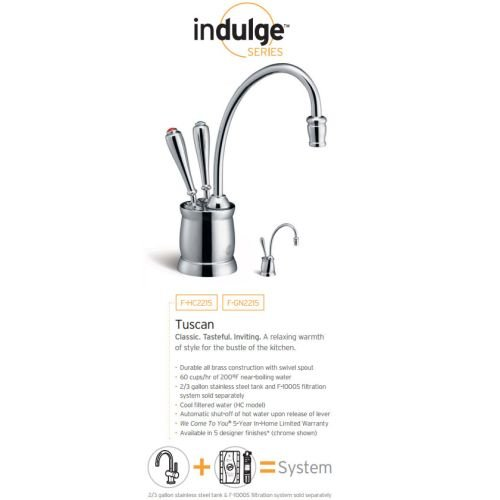 InSinkErator F GN2215MB Indulge Tuscan Hot Water Dispenser Faucet, Mocha  Bronze By InSinkErator