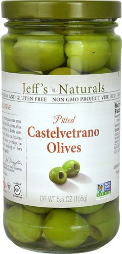 Jeff's Naturals Pitted Castelvetrano Olives -- 5.5 oz - 3PC by Jeff's Naturals