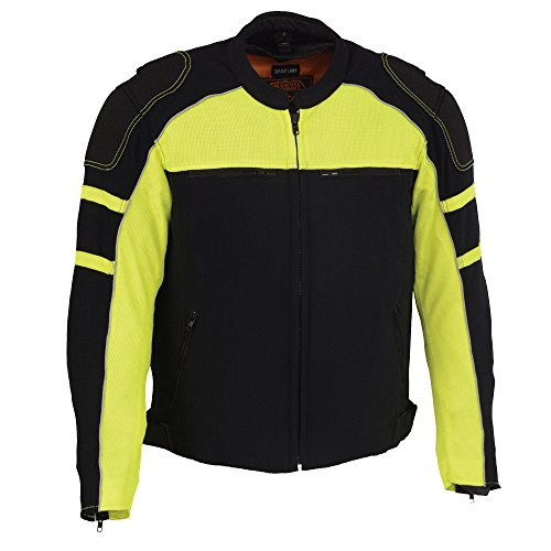 Milwaukee Performance Men's Scooter Collar Jacket with Charcoal Gray Hood BLACK/NEON GREEN SM ()