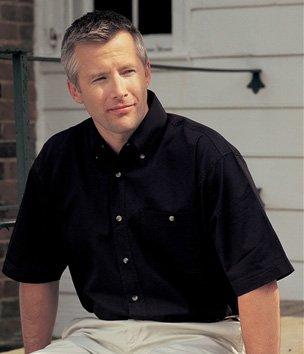 Tri-Mountain Men's Director Short Sleeve Twill Shirt