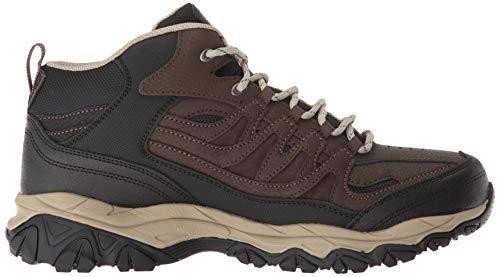 Skechers Burn Memory Fit - Geardo Brown/Black Mens Boot Size 11W