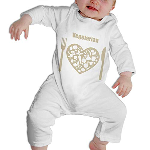 SARA NELL Vegetarian Plate Baby Boys & Girls Bodysuit Onesies Long Sleeve -