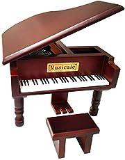 Fontee® Caja de Música, Calidad Clásico Madera Piano, Mecanismo Joyero Musical, Día de la Madre, Día del Padre, Día de San Valentín, Cumpleaños, Aniversario de Bodas, Navidad
