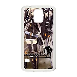 Asahiage Chainsaw Samsung Galaxy S5 caja del teléfono celular funda blanca del teléfono celular Funda Cubierta EOKXLKNBC08543