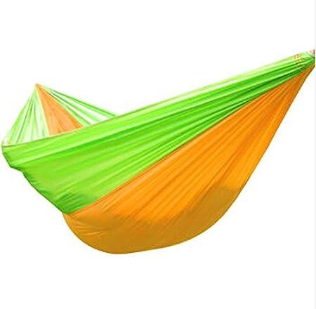 WXYXG Hamaca, Hamaca al Aire Libre Swing Indoor Camping Sola y Doble Hamaca de niño Color de Costura Paño de paracaídas 135 * 240cm (Color : #3)
