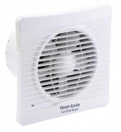 Vent-Axia 441628 Lo-Carbon Silhouette 150B Extractor Fan for Kitchen/Utility/Large Bathroom