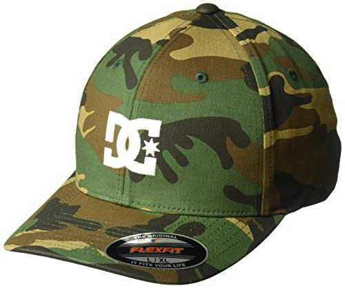 DC Men's Cap Star 2 Flex FIT HAT, camo, L/XL