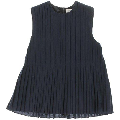 Victoria Beckham Jeans Girls Pleated Sleeveless Casual Dress Navy 10