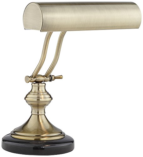 Antique Brass Piano Lamp (Antique Brass With Marble Piano Desk Lamp by Regency Hill)