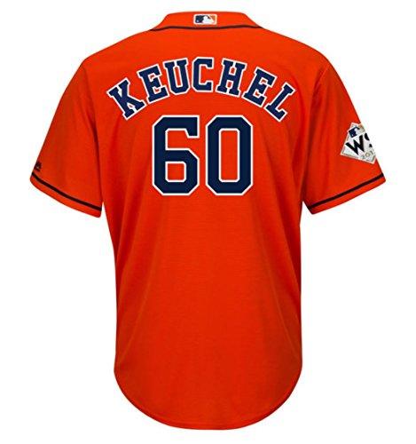 Keuchel Houston Astros World Series Alternate Orange Cool Base Jersey