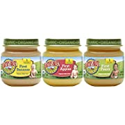 Earth's Best Organic Stage 1 Baby Food, My First Fruits Variety Pack (Apples, Bananas, and Pears), 2.5 Ounce Jars, 12 Count