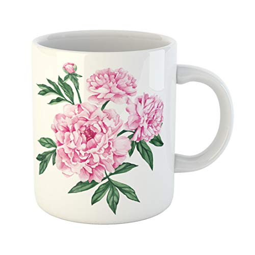 - Emvency Funny Coffee Mug Pink Flower Garden Peony Watercolor Hand Purple Rose 11 Oz Ceramic Coffee Mug Tea Cup Best Gift Or Souvenir